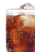 Cold cola with ice — Stock Photo