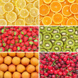 Stock Photo: Healthy food background. Fruits and berrys set.