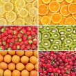 Healthy food background. Fruits and berrys set. — Stock Photo
