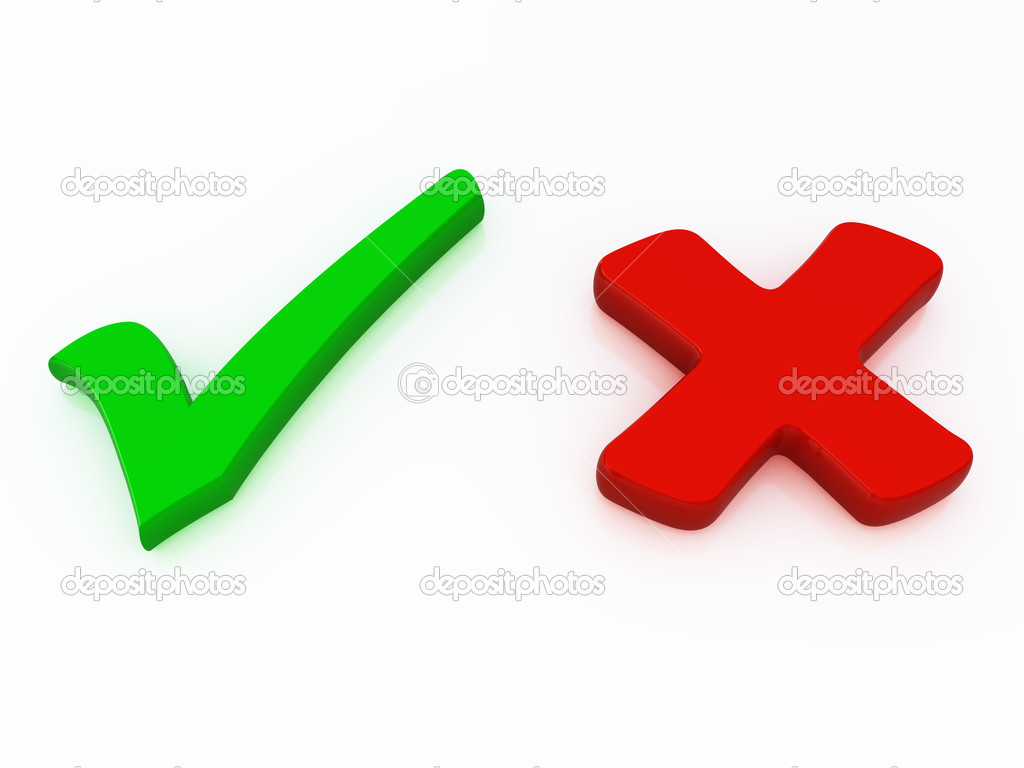 Right and wrong check mark signs — Stock Photo © adriana13 5489331