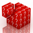 Question and guessing puzzle cube - Stock Photo