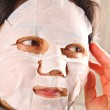 Woman wearing a facemask — Stock Photo