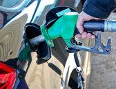 Hand filling petrol — Stock Photo