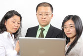 3 chinese businesspeople — Stock Photo