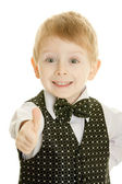 The little boy in a suit — Stock Photo
