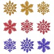 Miscellaneous snowflakes — Stock Photo