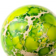 Green jasper sphere - Stock Photo