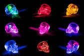 Glass skulls — Stock Photo
