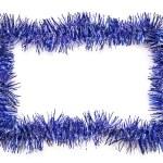 blå tinsel gränsen — Stock fotografie