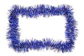 Blue tinsel border — Stock Photo