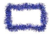 Blue tinsel border — Stock Photo