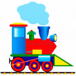Steam locomotive — Stock Vector
