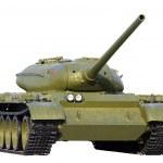 Soviet tank isolated over white — Stock Photo #5620588