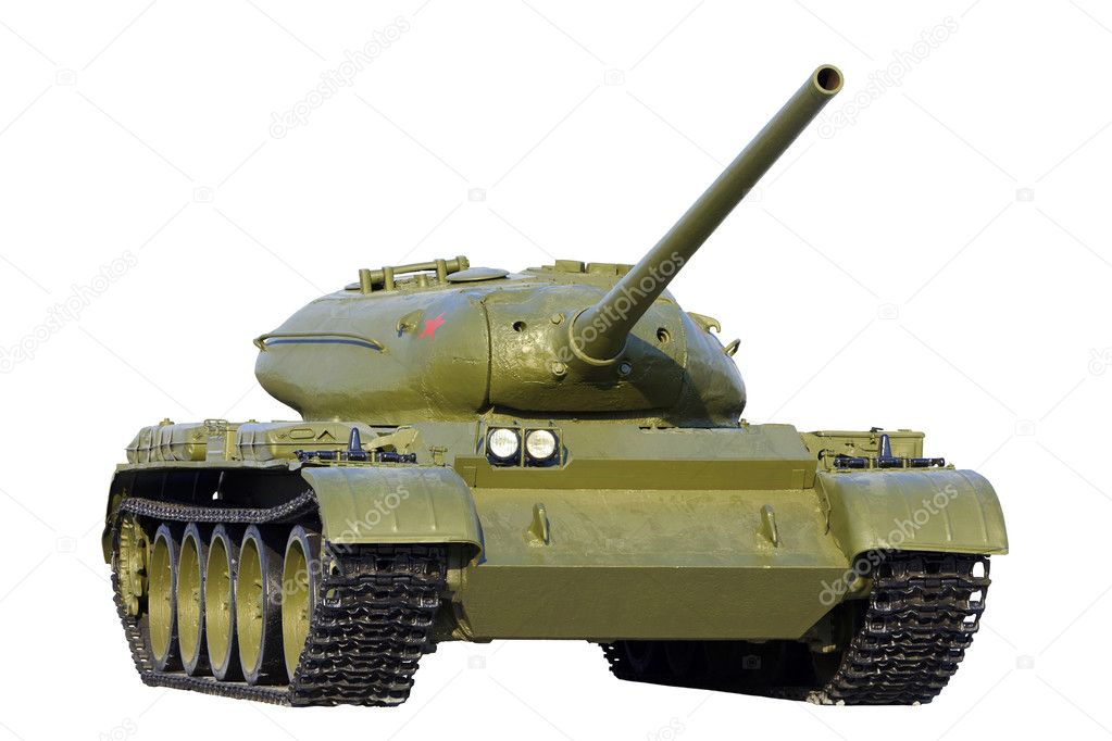 Heavy Soviet tank model IS, isolated over white background  Stock Photo #5620588