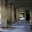 Lost city. The interior of an abandoned construction. — Stock Photo