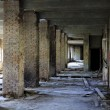 Lost city. The interior of an abandoned construction. - Stock Photo