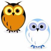 две совы — Cтоковый вектор