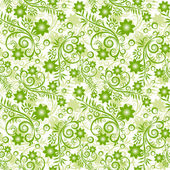 Seamless floral green background. — Stock Vector