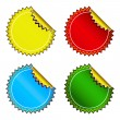 Set of bright stickers — Stock Vector