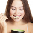 Woman eating cereals — Stock Photo #5896033