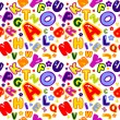 Royalty-Free Stock Vector Image: Seamless pattern made of colorful numbers