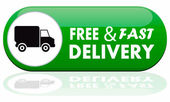Free and fast delivery banner — Stock Vector
