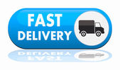 Fast delivery banner — Stock Vector