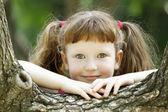 Smiling blond girl — Stock Photo