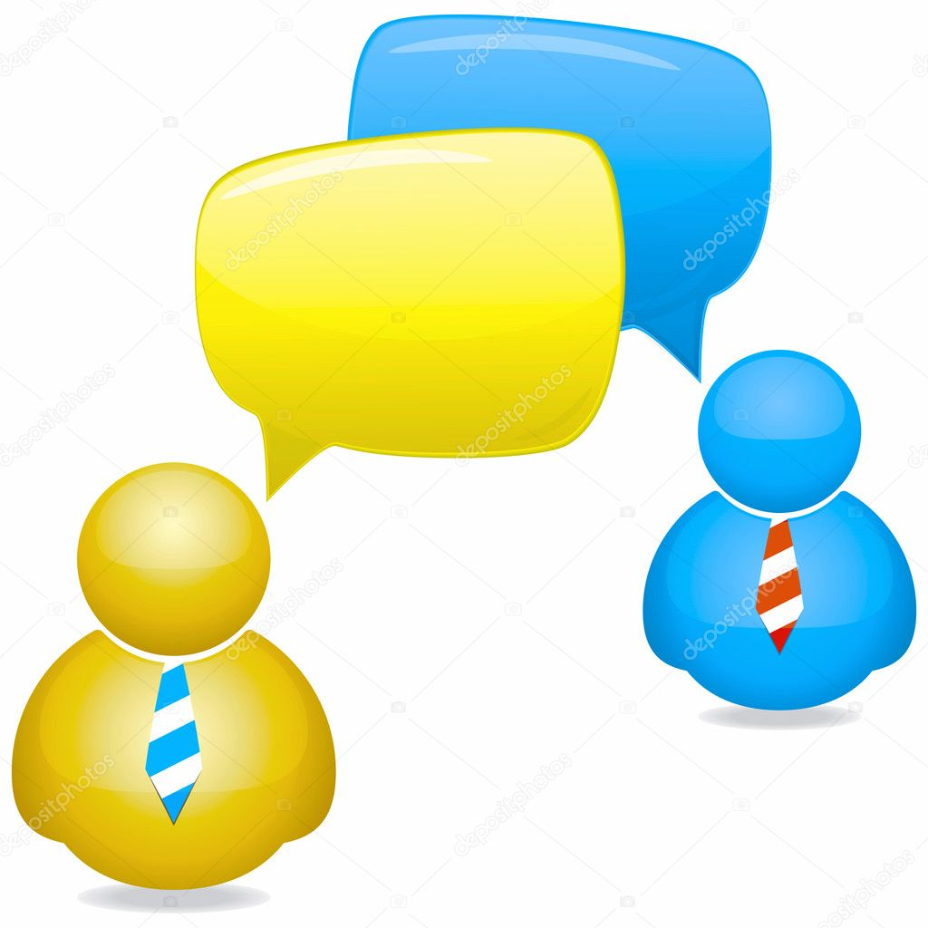 Plastic Icons with Speech Bubbles and Ties — Stock Vector #6218221