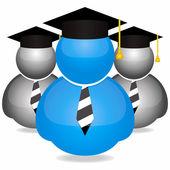 Icone di laurea gli studenti — Vettoriale Stock
