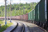 Treno merci — Foto Stock