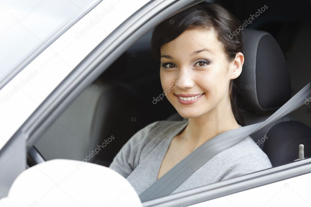 Pretty girl in a car — Stock Photo #6603232