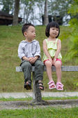 Boy and girl dating — Stock Photo