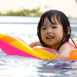 Little girl in swimming pool — Stock Photo #6682656