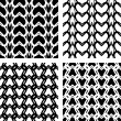 Seamless lacy knitted patterns. — Vettoriali Stock
