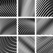 Abstract textured backgrounds. Op art. — 图库矢量图片