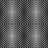 Seamless pattern in op art design. — Stock Vector