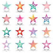 Stars. Design elements set. — Stock Vector