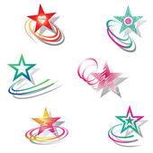 Stars. Design elements set. — Stock Vector