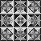 Nahtlose geometrische op-art-muster. — Stockvektor