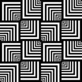 Seamless op art pattern. Geometric texture. — Stock Vector