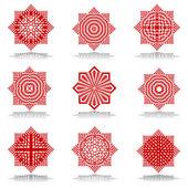 Design elements set. Octagonal patterns. — Stock Vector