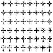 Crosses set. — Stock Vector