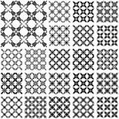 Patrones sin fisuras. diseños set con cruz elementos. — Vector de stock