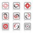 Design elements with spiral movement. - Stock Vector