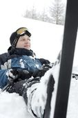 Relaxing Skier — Stock Photo