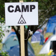 Campsign — Stock Photo