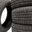 Tyre set — Stock Photo