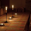 Table in candlelight — Stock Photo