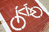 Bisiklet işareti — Stok fotoğraf